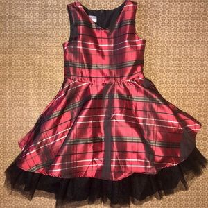 Plaid Holiday Party Dress